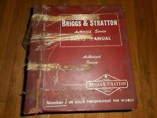 Vintage 1976 Briggs Amp Stratton Gas Engine Authorized Parts Service Manual