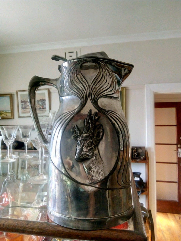 "WMF ""Orivit"" vase from the 1880s ."