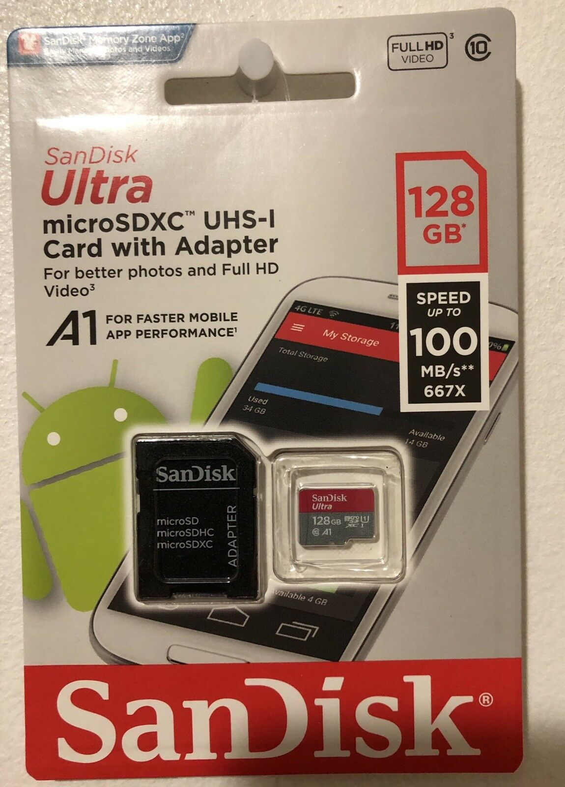 SanDisk Ultra 128GB MicroSDXC Verified for Samsung SM-T670NZWAXAR by SanFlash 100MBs A1 U1 C10 Works with SanDisk
