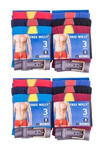 Hommes 12//6pr FREE WILLY//Emoji Couleur Coton Boxer Shorts Taille Sous-vêtements S