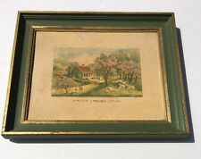 Currier Ives American Homestead Four Seasons Spring Green Trees