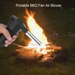 Hand Crank Barbecue Fan Air Blower Cooking BBQ Briquets Fire Bellows Outdoor *#