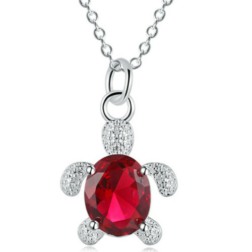 Nouveaux bijoux de qualité supérieure Zircon Cristal Pierre Précieuse Chaîne Tortue Collier Pendentif