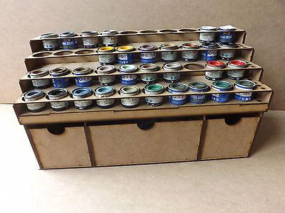 Paint Stand 40 Tin rack Deep storage draws Humbrol Revell Enamel wargame Airfix