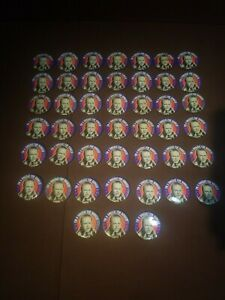 Archie-Bunker-w-Cigar-1972-Political-Button-034-I-039-m-A-DINGBAT-FOR-BUNKER-034-Lot-of-45