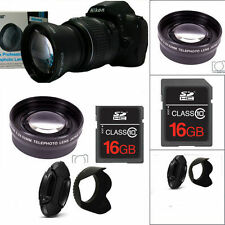 52MM SPORT ACTION ZOOM  LENS +16GB + HOOD + FOR NIKON D3000 D3100 D3200 D5000