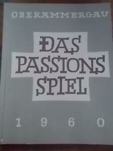 1st-Ed-1960-German-Religious-Biblical-Bible-Christianity-Das-Passions-Spiel-VGC