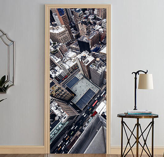 3D Gebäude 430 Tür Mauer Wandgemälde Foto Wandaufkleber AJ WALL DE Lemon