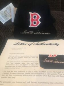 f2227950fd1 Image is loading Red-Sox-Hat-Signed-By-Ted-Williams-PSA-