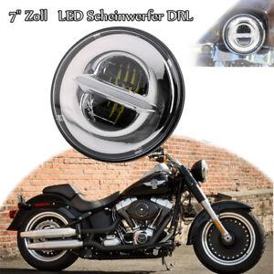 7-034-Zoll-Haupt-2835-LED-Scheinwerfer-DRL-Hi-lo-Beam-fuer-Harley-Jeep-JK-CJ