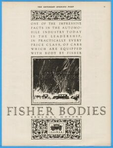 1926 Fisher Body General Motors Winter Driving Horse Carriage Vinitage Auto Ad