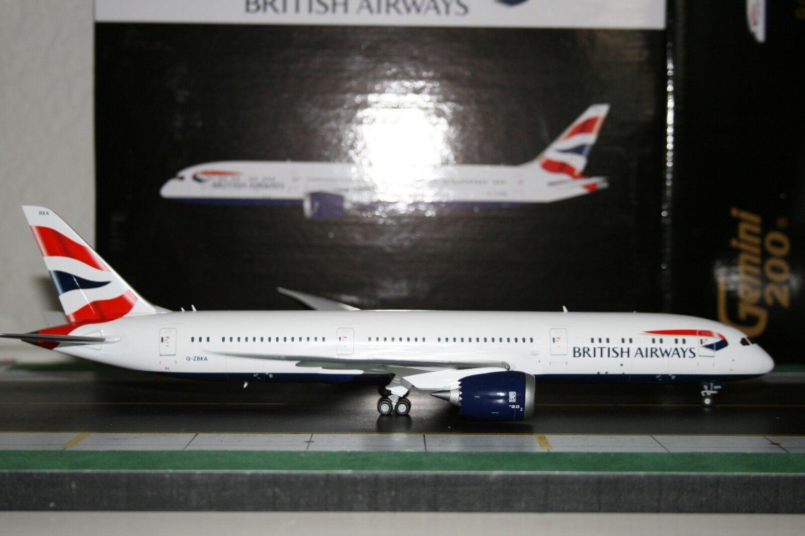 Gemini Jets 1 200 British Airways Boeing 787-9 G-ZBKA (G2BAW544) Model Plane