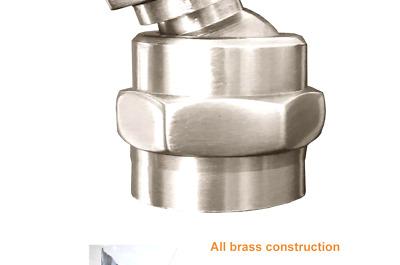 MissMin Shower Head Swivel Adapter Ball Joint,showerhead Adjustable Connector,Brushed Nickel