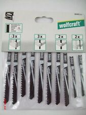 Wolfcraft  8440000 Stichsägeblatt-Set Holz U-Schaft CO27 10-teilig