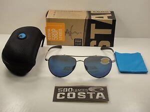 0038404568f7c COSTA DEL MAR COOK POLARIZED COO21 OBMP SUNGLASSES PALLADIUM BLUE ...