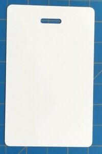 blank plastic vertical make your own badge id card pocket reference