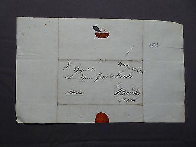 Militaria Brief Dokument Aus Magdeburg Nach Mittenwalde (lds) Berlin, Von 1821 PüNktliches Timing