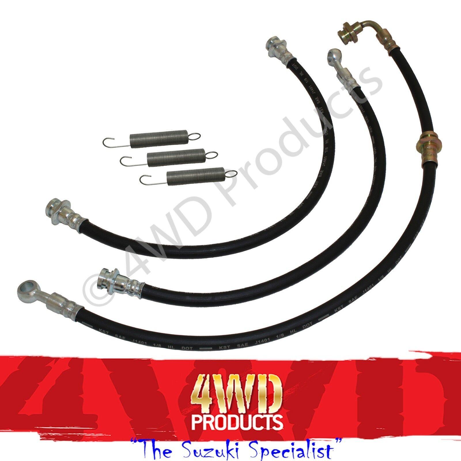 Rubber Brake Line Hose : Mm quot extended rubber brake line hose kit suzuki
