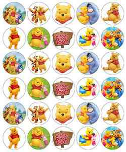 Winnie The Pooh Cupcake Toppers Edible Wafer Paper Buy 2 Get 3rd