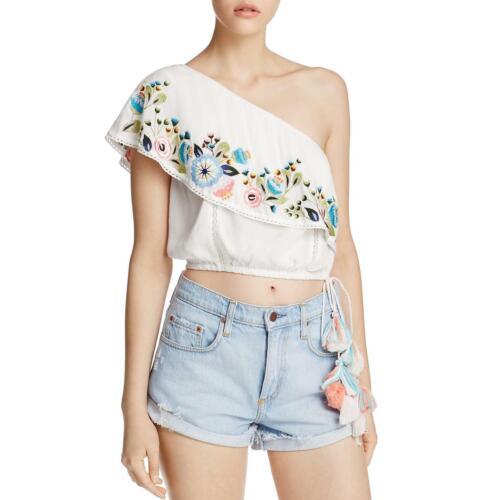 Rahi Cali Womens Bliss Embroidered One Shoulder Crop Top Shirt BHFO 7362