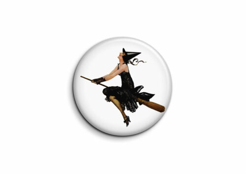 Halloween Badge 25mm Button Pin Sorcière 1