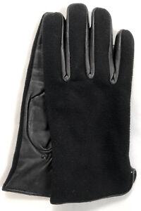 Riparo Men/'s Genuine Leather Winter Gloves with Fleece Lining Black