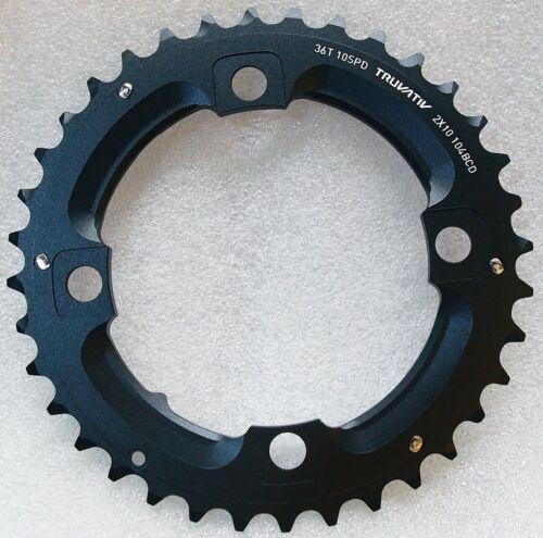SRAM Truvativ MTB X0 No Pin 2x10 speed 36T Chainring BCD 104mm X9