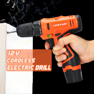 LongYun-12V-Li-Ion-Lithium-Cordless-Electric-Drill-Driver-2-Speed-With-LED-Set