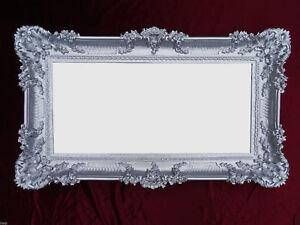 Baroque Miroir Mural Baroque Miroir antique avec ornements or argent 96x57 NEUF