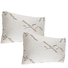 2 pack bamboo pillows memory foam king size new improved version