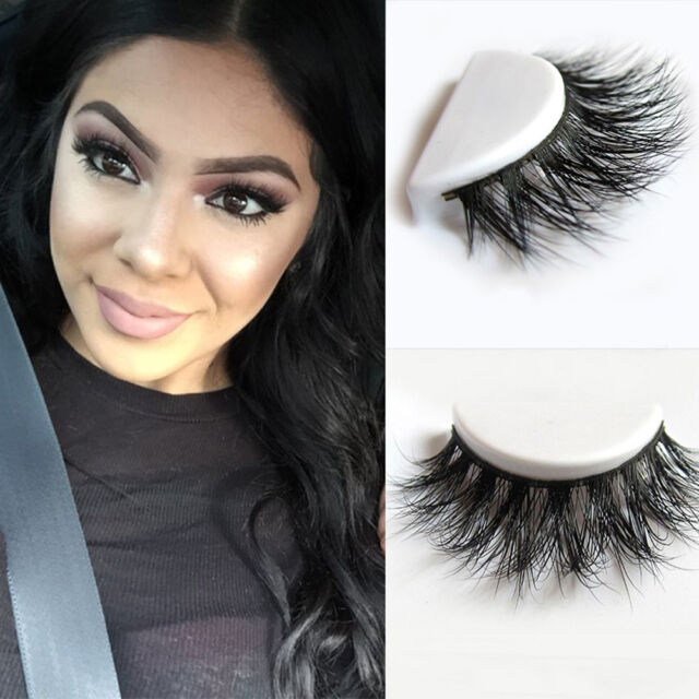 14cab3330a5 100% Real 3D Mink Makeup Cross False Eyelashes Long Natural Extension  Handmade