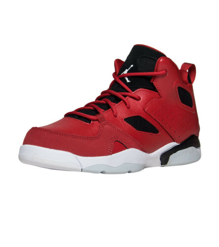 GYM//RED//WHITE-BLACK 555470 600 Boys/' Jordan FLTCLB 91 PRM BP PS Shoe!