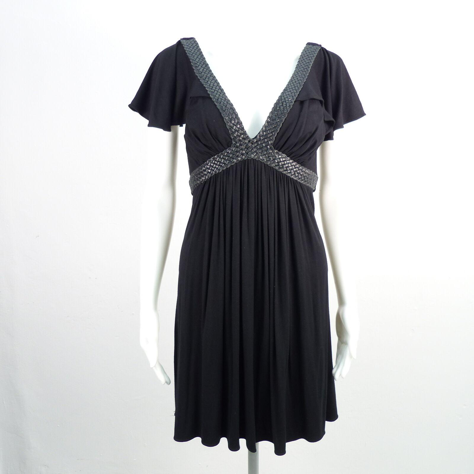 SKY Kleid Damen Gr. M Schwarz Dress Robe Kurzarm