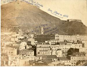 Algerie-Oran-Panorama-Vintage-albumen-print-Tirage-albumine-21x27-Ci