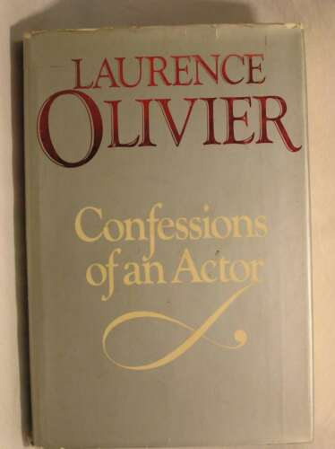 1 of 1 - Confessions Of An Actor, Laurence Olivier, Very Good Book