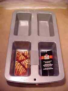 Wilton New Recipe Right 4 Cavity Loaf Pan Non Stick Pan