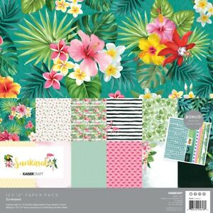 "Kaisercraft Paper Pack 12""X12"" 12/Pkg-Sunkissed"
