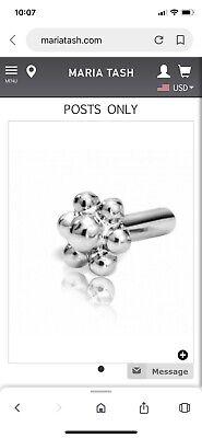 Maria Tash 8mm 14kt White Gold Flower Ball Threaded Back