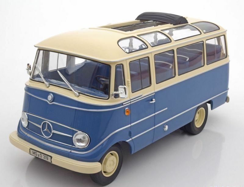 1 18 Norev Mercedes O319 Bus 1960 Blau Cream Lmtd. Edition 2000 Piece