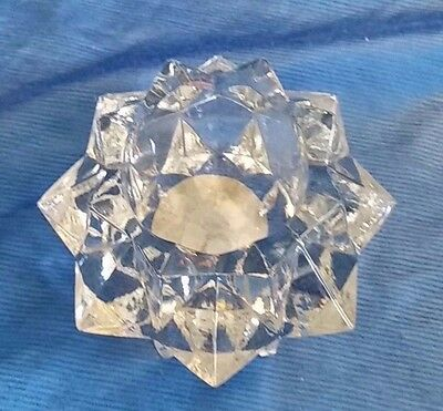 pedestal style clear Perfect for a single candle or as a display item Vintage Indiana Glass candle votive Could be a succulent planter!