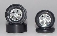 AMT 4 Tires Mag Wheels & Hubs 1 25 ST189