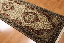 "2'6""x23' Handmade Palace size runner Persian Tabriz design Area Rug 100% wool"