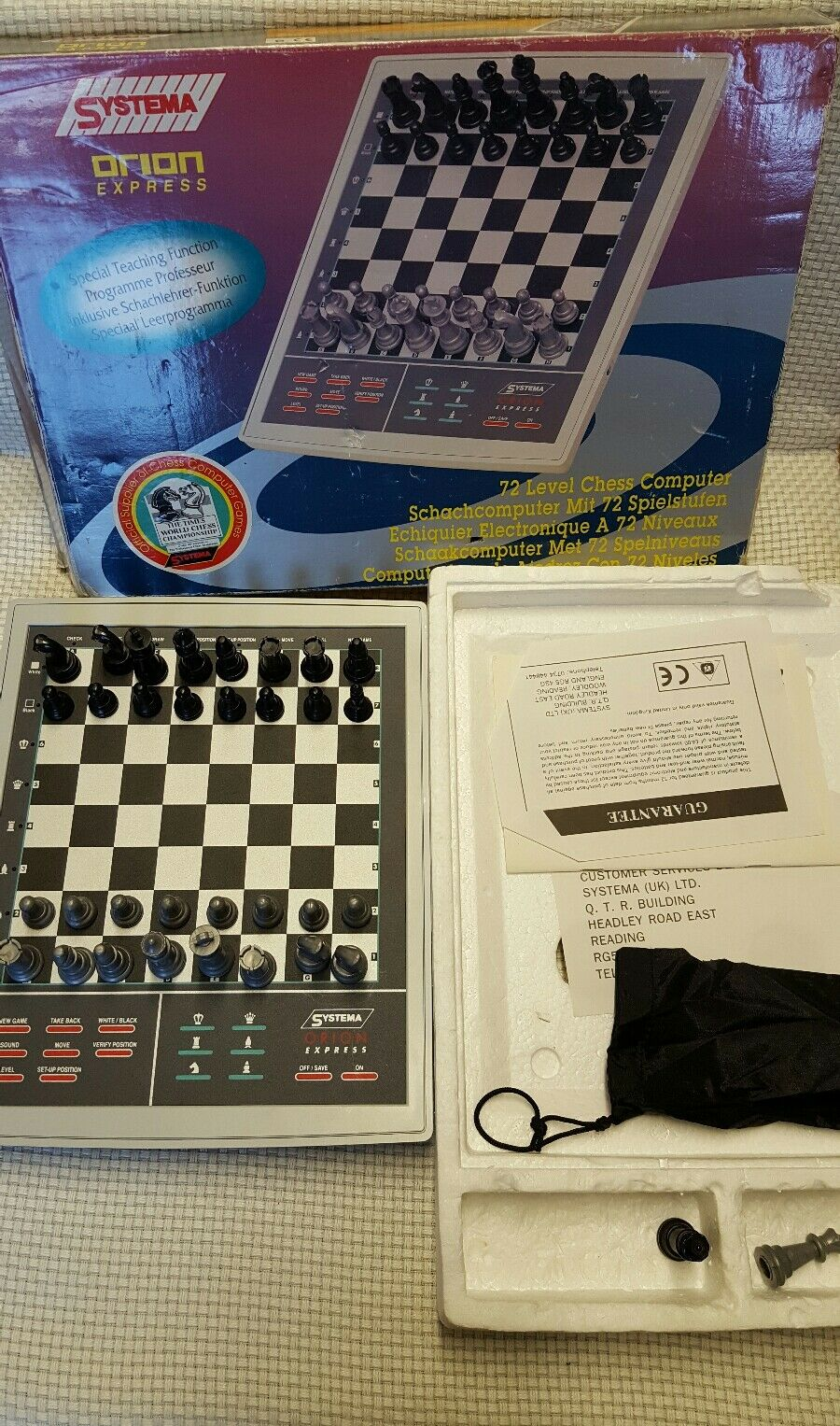 SYSTEMA Orion Express 72 livello Chess Computer  NO 5t-788
