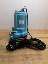Little Giant Pumps Manual Effluent Pump 410 Hp 9 Amp Rating 115 Volt 509805