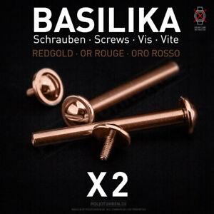 POLJOT-BASILIKA-2-Stege-Schrauben-Rose-Ersatzteil-Armband-fuer-russische-Uhr