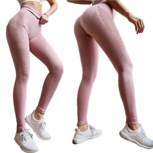 UK Womens High Waist Vital Seamless Gym Leggings Ladie Fitness Sports Yoga Pants