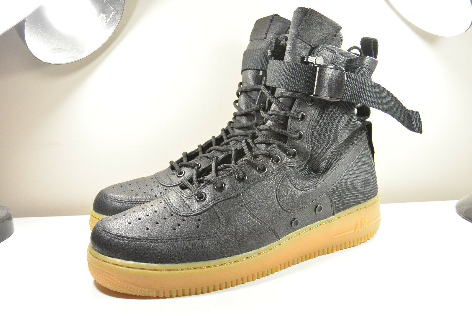 DS Force Nike 2016 SF AF1 Air Force DS 1 especial Feild Negro Goma 11.5 Supremo Foamposite 930f9a