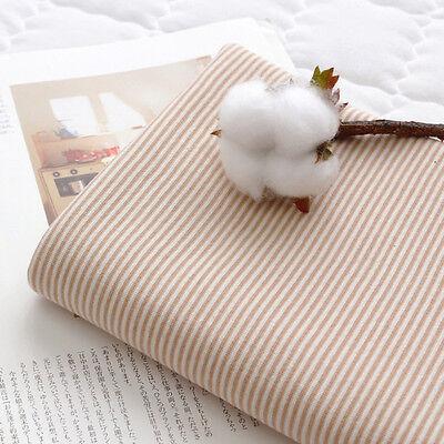 "Stripe Organic Span Cotton Knit Single Fabric by the Yard 55"" Wide MR Golgi"