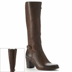 2 shifty knee high wide calf boots