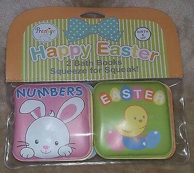 NEW Prestige Baby Girl 2-Pack Bath Books~Babys 1st Easter Basket Toy--Birth /& Up